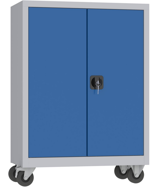 00150615 Szafa narzędziowa na kółkach, 2 drzwi (wymiary: 1000 + koła x800x500 mm)