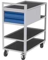 00150671 Wózek serwisowy, 2 półki, 2 szuflady (wymiary: 925x825x455 mm)