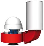 08549378 Wentylator promieniowy dachowy z wylotem pionowym WPA-13-D-3-N 400V (obroty synchroniczne: 3000 1/min, moc: 7,5 kW, wydajność wentylatora: 10800 m3/h)