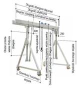 12846382 Aluminiowa suwnica bramowa z podwójnym dźwigarem i wciągnikiem (szerokość w świetle: 4000mm, wysokość: 3180/4330mm, udźwig: 3000 kg)