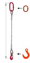 33948347 Zawiesie linowe jednocięgnowe miproSling FW 29,00 (długość liny: 1m, udźwig: 29 T, średnica liny: 52 mm, wymiary ogniwa: 340x180 mm)