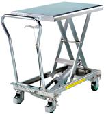 39955550 Wózek platformowy nierdzewny nożycowy (wymiary: 815x500mm, udźwig: 200 kg)