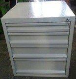 77156999 Szafka do stołu warsztatowego, 4 szuflady (wymiary: 665x580x600 mm)
