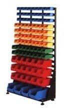77157404 Regał z pojemnikami plastikowymi, 103 pojemniki (wymiary: 1670x1000x420 mm)