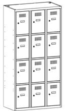 99552054 Szafka ze schowkami 0,5mm, 12 drzwi (wymiary: 1800x1200x500 mm)