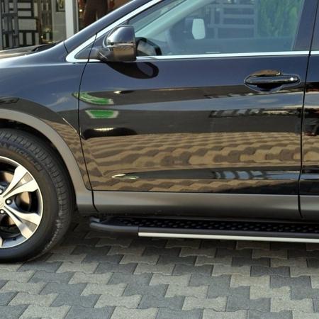 01656106 Stopnie boczne, czarne - Honda CRV 2007-2012 (długość: 171 cm)