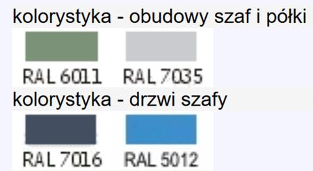 00853988 Szafa dwudrzwiowa do opraw narzędziowych ISO, 120 gniazd (wymiary: 2001x1167x451 mm)