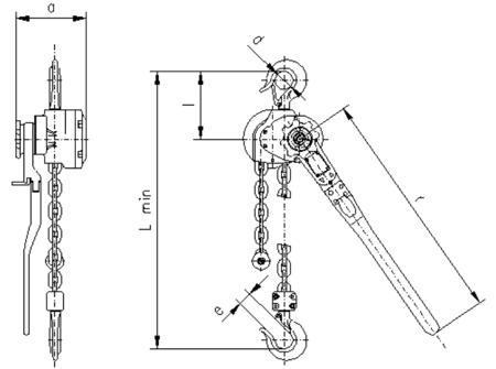 DOSTAWA GRATIS! 2202556 Wciągnik dźwigniowy, rukcug z łańcuchem ogniwowym RZC/5.0t (wysokość podnoszenia: 2,5m, udźwig: 5 T)