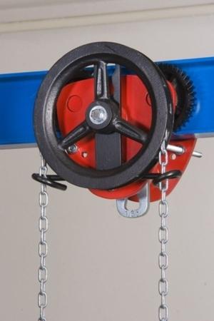 DOSTAWA GRATIS! 2203103 Wózek jedno-belkowy z napędem ręcznym Z420-A/5.0t/3m (wysokość podnoszenia: 3m, szerokość dwuteownika od: 113-137mm, udźwig: 5 T)