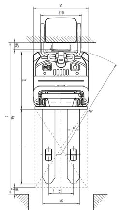 DOSTAWA GRATIS! 31046312 Wózek paletowy podnośnikowy elektryczny z podestem, wspomaganie (wysokość podnoszenia: 3250mm, udźwig: 1400 kg)