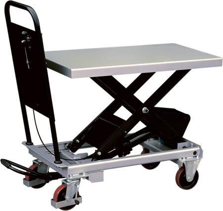DOSTAWA GRATIS! 310563 Ruchomy stół podnośny (udźwig: 750 kg, wymiary platformy: 1010x520 mm, wysokość podnoszenia min/max: 435-1000 mm)