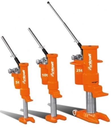 DOSTAWA GRATIS! 32240220 Hydrauliczny podnośnik maszynowy, Unicraft (udźwig: 10 t)