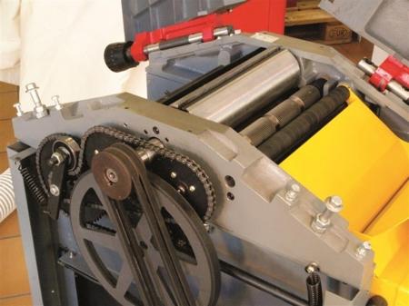 DOSTAWA GRATIS! 44349955 Strugarko-grubosciówka Holzmann 400V (szerokość/wysokość obróbki: 250/180 mm, długość blatu wyrówniarki: 1085 mm)
