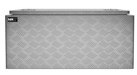 DOSTAWA GRATIS! 45674787 Skrzynka narzędziowa MSW - aluminium - 119 l - wodoodporna (wymiary: 91 x 45 x 44,5 cm)