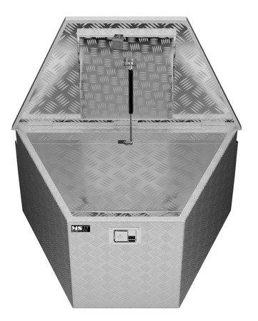 DOSTAWA GRATIS! 45674788 Skrzynka narzędziowa MSW - aluminium - 150 l - zamek (wymiary: 81,5 x 47,5 x 46 cm)