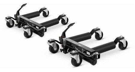 DOSTAWA GRATIS! 45674802 Wózek do pojazdów MSW - hydrauliczny - 2 szt. (maks. obciążenie dla jednej sztuki: 680 kg)