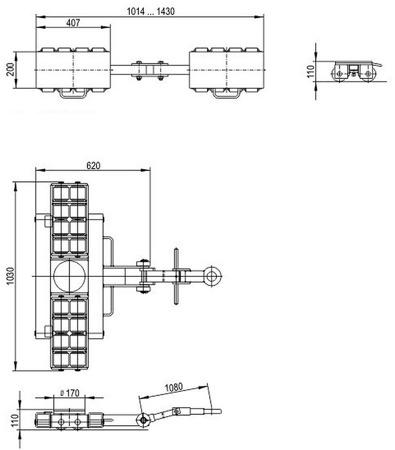 DOSTAWA GRATIS! 49972676 Zestaw podwozi transportowych (nośność: 36T)