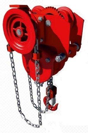 DOSTAWA GRATIS! 9588161 Wciągnik łańcuchowy przejezdny (udźwig: 8,0 T, wysokość podnoszenia: 3m, zakres toru jeznego: 143-200 mm)