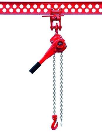 DOSTAWA GRATIS! 9588183 Wciągnik łańcuchowy dźwigniowy, rukcug, łańcuch Ogniwowy (udźwig: 0,75 T, wysokość podnoszenia: 1,5m)