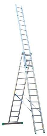 DOSTAWA GRATIS! 99674944 Drabina aluminiowa 3x10 Drabex na schody (wysokość robocza: 8,10m)