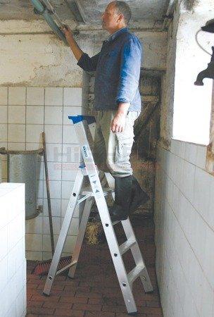 DOSTAWA GRATIS! 99674996 Drabina wolnostojąca KRAUSE Stabilo 1x4 (wysokość robocza: 2,95m)