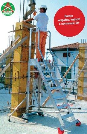 DOSTAWA GRATIS! 99675065 Drabina magazynowa 5 stopniowa FARAONE (wysokość robocza: 3,28m)