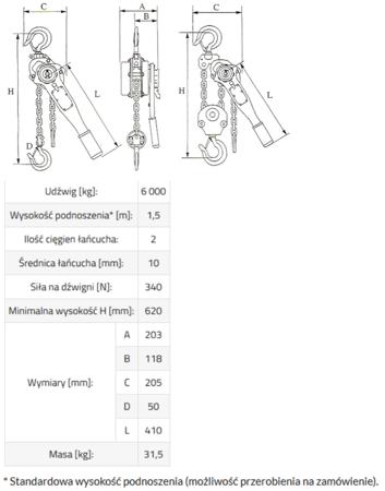 IMPROWEGLE Wciągnik łańcuchowy, rukcug GKS 9,0 (udźwig: 9000 kg, wysokość podnoszenia: 3 m) 33917047