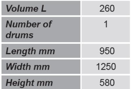 SWARK Paleta do beczek GermanTech (ilość beczek: 2, wymiary: 950x1250x580 mm) 99724722