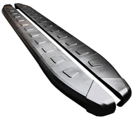 Stopnie boczne, czarne - Nissan X-Trail T30 2002-2007 (długość: 171 cm) 01655954