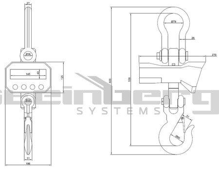 Waga hakowa Steinberg Systems LED (udźwig: 5T) 45643496