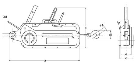 Wciągnik linowy z liną 10m (udźwig: 1,6 T) 22076817
