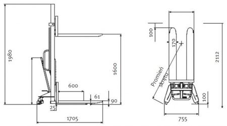 Wózek paletowy podnośnikowy Unicraft (udźwig: 1000 kg) 32240164