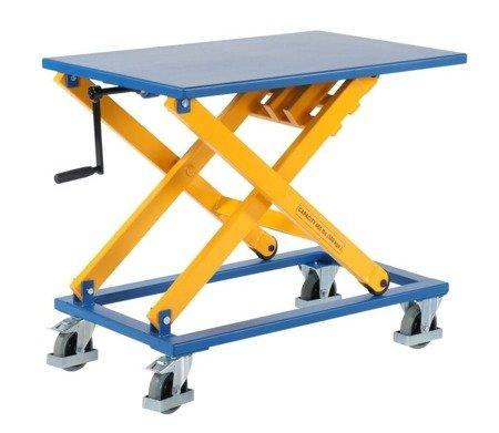 Wózek platformowy nożycowy GermanTech (udźwig: 300 kg, wymiary platformy: 950x600 mm, wysokość podnoszenia min/max: 450-1050 mm) 99724840