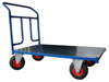 Wózek platformowy ręczny jednoburtowy (koła: pneumatyczne 225 mm, nośność: 250 kg, wymiary: 1200x700 mm) 13340588